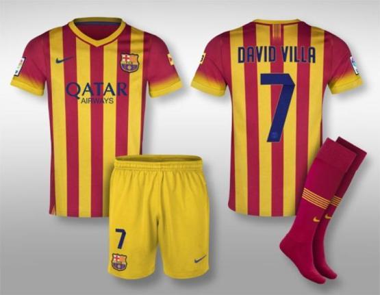 Fc barcelone les nouveaux maillots de la saison 2013 for Barcelone maillot exterieur